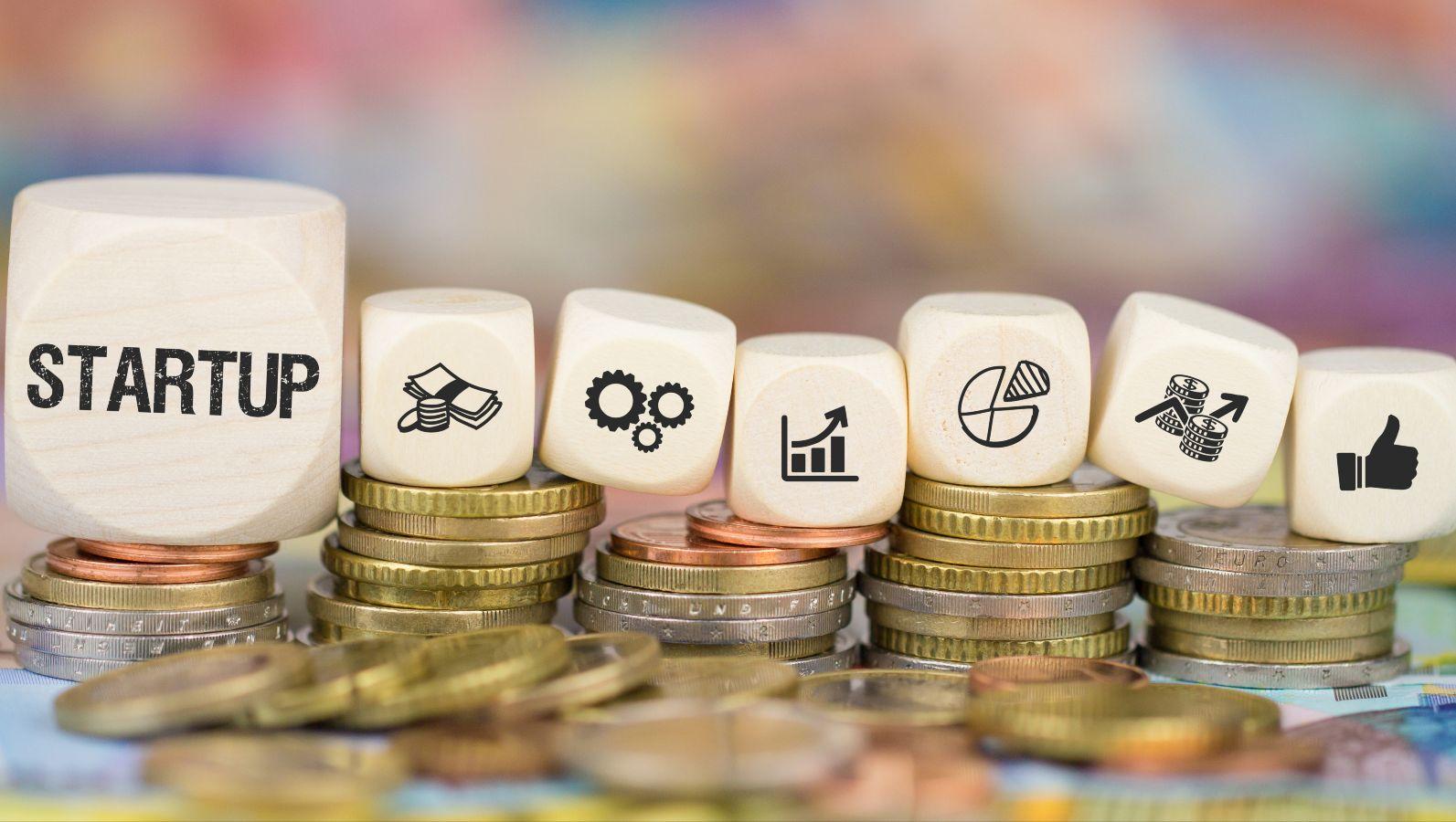 Startup Symbole auf Würfeln